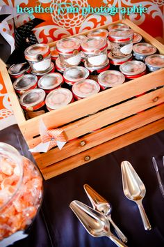 ORange candy jars as favors