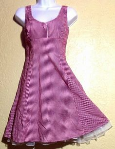Shabby Chic~Boho~Country~Pinup Girl Gingham Doll Dress by CW Wrapper~Size 7/8~M #CWWrapper #CountryGirlShabbyChicBohoPinupGirl