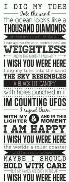 <3 I Wish You Were Here