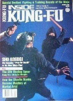 10/85 INSIDE KUNG FU MAGAZINE KARATE NINJA SHO KOSUGI