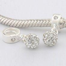 Serve Pandora encantos originais pulseira 925 padrão prata Bead cristal charme europeu mulheres DIY jóias(China (Mainland))