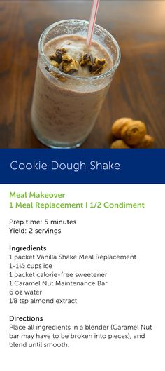 Sip on something sweet and yummy - a Cookie Dough Shake! #TSFL