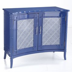 W7614British Colonial Cabinet – Navy Console Tables & Buffets