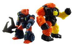 A classic Battle Beasts toy next to the Glyos System Armorvor. Photo from my Battle Beasts War Weasel review.