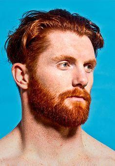 Redhead athlete face