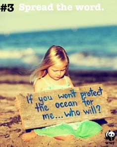 Get involved: Participate in events such as beach cleanups, sign petitions, and vote and support legislators and laws that protect the ocean and the environment, and support ocean conservation groups