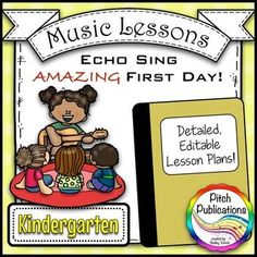 This is a GREAT lesson for the first day of music in Kindergarten! I can't wait to use it! #pitchpublications #musictpt #elmused music education