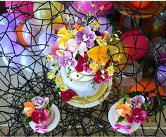 Sugar flowers with Balloon