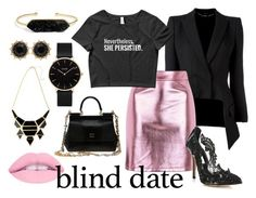 """""""The Persistent Dater"""" by wearyourdissent ❤ liked on Polyvore featuring Alexander McQueen, Topshop, Oscar de la Renta, Dolce&Gabbana, CLUSE, BaubleBar, Gucci and feminism"""