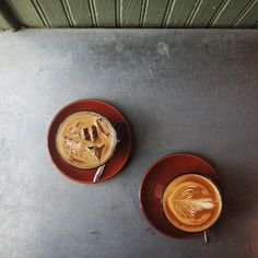 coffees at Bowery Coffee / photo by Alice Gao