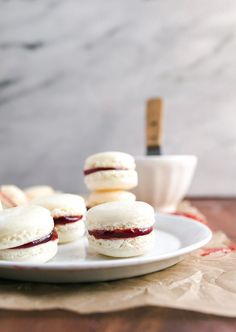 must try full proof french macarons recipe; meringue powder stabilizes the egg whites, and helps them thicken properly so that you get perfect macarons, even on your first try