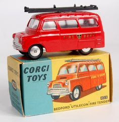 Corgi boîte box repro 423 bedford utilecon fire tender
