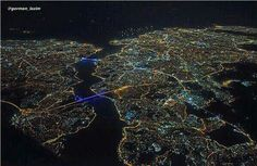 Istanbul sky view at night