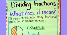 What does it mean to divide a fraction by a fraction? This is a great starting point for beginning a unit about dividing fractions. Th...