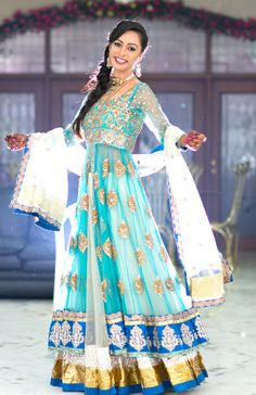 anarkali pretty blue!
