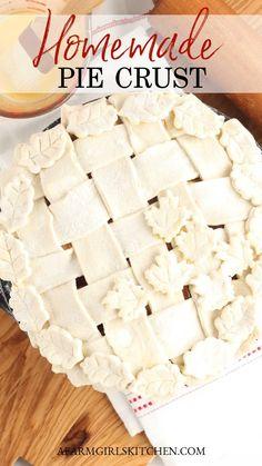 Pie Crust From Scratch, Easy Pie Crust, Homemade Pie Crusts, Homemade Apple Pies, Pie Crust Recipes, Best Pie Crust Recipe, Empanadas, Blackberry Pie Recipes, Best Pumpkin Pie