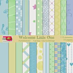 FREE OklahomaDawn: Free Scrapbooking Kit - Welcome Little One (boy papers)