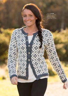 Katalog 1416 - Viking of Norway, Elidakofta (lastet ned) Knitted Poncho, Knit Jacket, Knit Cardigan, Norwegian Knitting, Cardigan Design, Fair Isle Pattern, Fair Isle Knitting, Baby Sweaters, Fair Isles