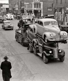 great old car hauler pic