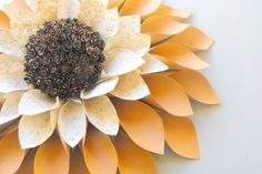 FALL PAPER WREATH-Paper Flower Wreath-Fall Decor-terracotta, cream