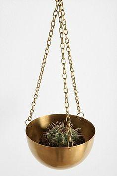 Hanging Brass Planter