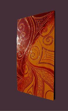 Original abstract modern painting intuitive art vedic art