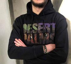 """Desert Palms"" hoodie by Palms, Hoodies, Sweatshirts, Dsquared2, Deserts, Sweaters, Fashion, Moda, Fashion Styles"