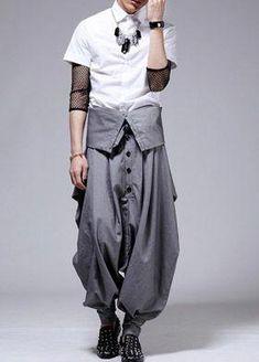 leorpard harem pants for men Homepage > Men's Fashion High Waist Individualistic Harem Pant Fashion Pants, Look Fashion, High Fashion, Mens Fashion, Fashion Outfits, Fashion Design, Sarouel Pants, Harem Pants Men, Men's Pants