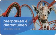 Dierentuinen en pretparken Cadeau Card  Pretparken & Dierentuinen Cadeau Card te besteden bij aangesloten pretparken en dierentuinen verspreid door het hele land! Wat dacht u van een kennismaking met het Afrikaanse wildlife in Safaripark Beekse Bergen of aapjes kijken in Apenheul?  https://www.sneltegoed.nl/nl/webshop/product/giftcards/dierentuinen_en_pretparken/C3069_1/103,giftfor2_dierentuinen_en_pretparken.html