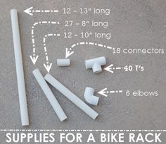 How to Make a Bike Rack- this would be a great spring project I can do with Ethan.