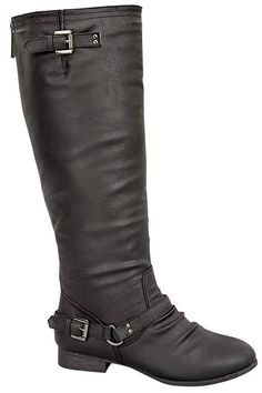 OUTLAW RIDER BLACK Riding Boots Buckle Shop Simply Me Boutique Shoes SMB – Simply Me Boutique