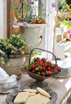 breakfast buffet on the patio