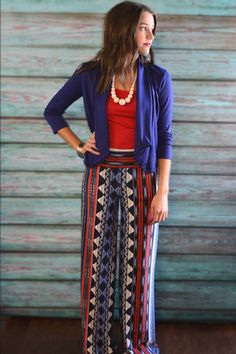 'Merica Palazzos – The ZigZag Stripe - Use code ZZS939 for free shipping!