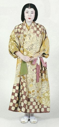 """Scan K1: Scan from book """"The History of Women's Costume in Japan."""" Scanned by Lumikettu of Flickr. Exacting recreation of Japanese ancestral clothing many centuries ago…"""