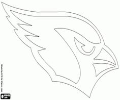 Logo of the Arizona Cardinals, american football franchise in NFC West division. Glendale, Arizona coloring page