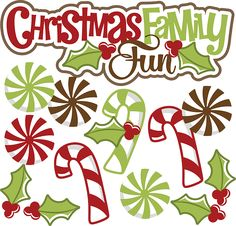 Christmas Family Fun SVG christmas svg file candy cane svg file svg files for scrapbooking free svgs
