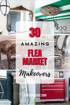 It's the season for flea markets, yard sales, thrifting and vintage markets. See our favorite flea market flips, because one man's trash is another man's treasure. Ideas for upcycling, second hand, repurposed furniture, upcycled home decor, fixer uppers, DIY projects, thrift store finds, furniture makeover, painted furniture, before and after projects and decorating with thrift store finds. Thrift Store Furniture, Thrift Store Crafts, Furniture Market, Repurposed Furniture, Painted Furniture, Refurbished Furniture, Decoupage Furniture, Thrift Stores, Farmhouse Furniture