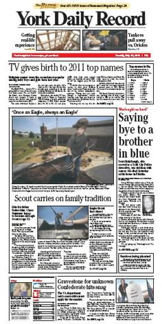 York Daily Record front page May 15
