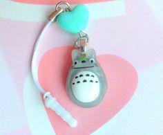 Studio Ghibli Totoro Charm Dust Plug Phone Strap Anime by CreaBia
