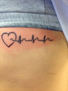 Want to get this EKG tattoo with Steves EKG strip. Love it!