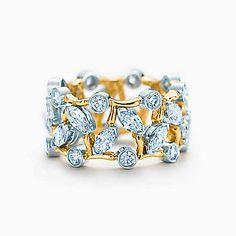 Anillo Schlumberger Vigne en oro de 18k con diamantes.