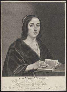 Anna Maria van Schurman (1607-1678) volgde als eerste vrouw colleges aan de Universiteit Utrecht. Uit: Universiteitsbibliotheek Vrije Universiteit, afdeling bijzondere collecties