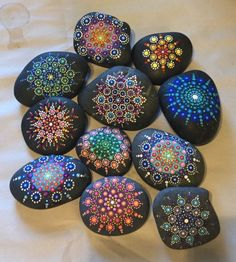 I put dots on rocks