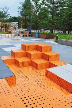 New urban landscape architecture design Ideas City Landscape, Urban Landscape, Landscape Design, Landscape Bricks, Urban Furniture, Street Furniture, Modular Furniture, City Furniture, Cheap Furniture