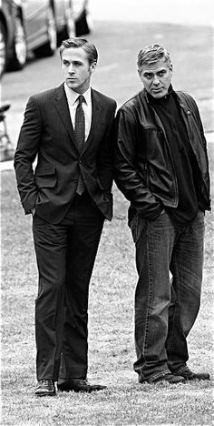 So much gorgeousness in one photo. Ryan Gosling & George Clooney.