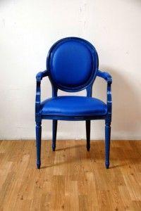 Blue-Modern-Louis-Armchair (Guest room)