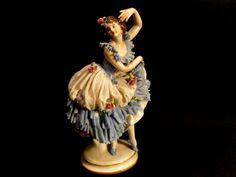 Vintage Volkstedt porcelain lace ballerina figurine. by Miltiadis
