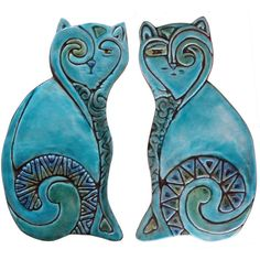 Cat Wall Hangings Ceramic Cats Cat Wall Decor Wall Art Pair of... ($76) ❤ liked on Polyvore featuring home, home decor, wall art, grey, home & living, home décor, wall décor, wall hangings, gray home decor and stick wall art