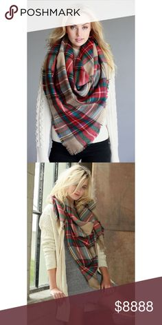 "Classic Natural Plaid Blanket Scarf Grab this classic Natural oversized plaid blanket scarf! It'll keep you nice and toasty during those cold winter months! Measures: 57""x57"" 100% . . If you would like to make an offer, please use the OFFER BUTTON. {10% discount on all 2+ orders} . . FOLLOW US✌🏽️ Insta 📸: shop.likenarly Facebook📱: likenarly Website 🌐: likeNarly.com likeNarly Accessories Scarves & Wraps"