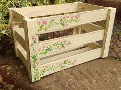 Hey, I found this really awesome Etsy listing at https://www.etsy.com/uk/listing/244036361/a-large-cream-shabby-chic-wooden-crate